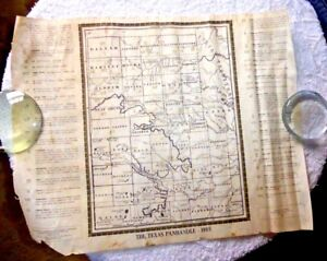 VINTAGE MAP TEXAS BRANDING SYMBOLS CATTLE TEXAS PANHANDLE COUNTIES ...