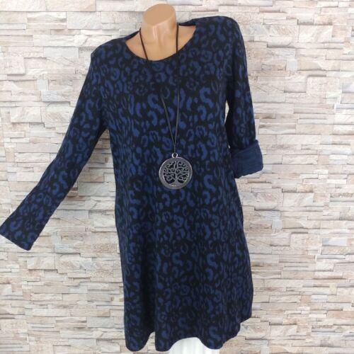 Dressara finemente abito a Maglia morbidose Stivali Vestito A-linea Leo Animal Print S M L XL