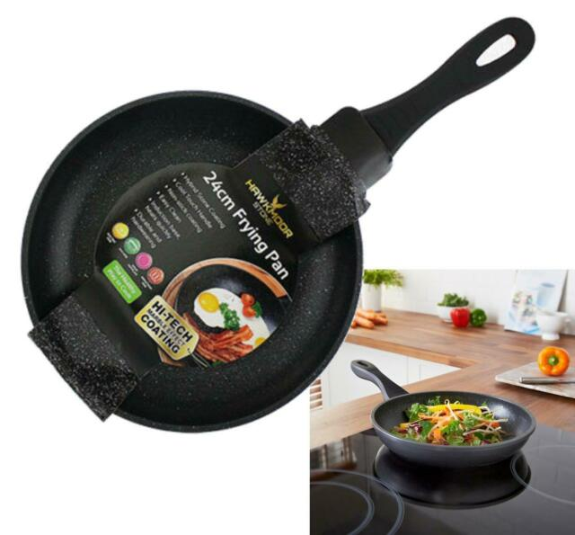 24cm Blackmoor Stone Frying Pan Durable Non-Stick for Induction & Standard Hobs