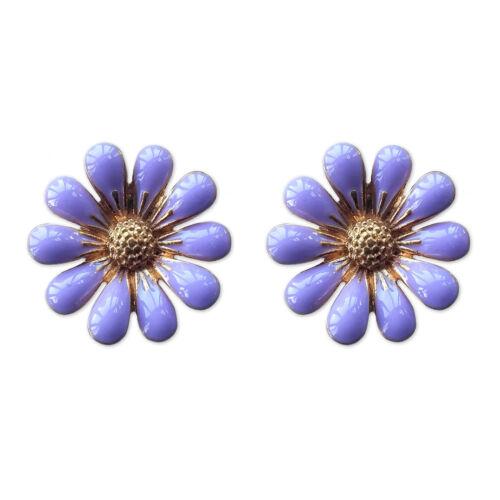 17 mm rosa de Flor de Aleación Pendientes con Pasador//Clip en Dama De Honor Boda Twinkle Tesoro