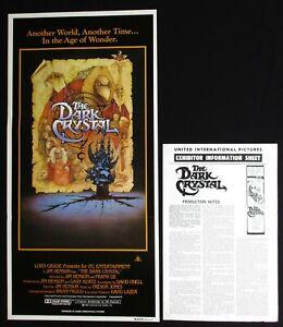 THE DARK CRYSTAL 1982 Original Australian daybill movie poster Jim Henson