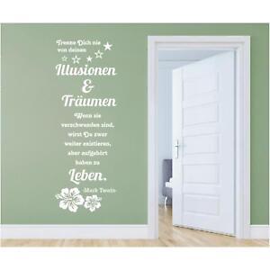Wandtattoo-Spruch-Illusionen-Traeumen-Leben-Twain-Zitat-Wandaufkleber-Sticker-d
