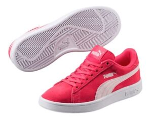 34769dcc84 Details about Puma Smash V2 Suede Trainers Junior Kids Girl Boy Shoes  365176 03 Red Size 5 C