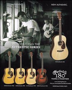 Martin Authentic Series D-45 S, D-2,8 D-18, OM-18 guitar ad 8 x 11 advertisement