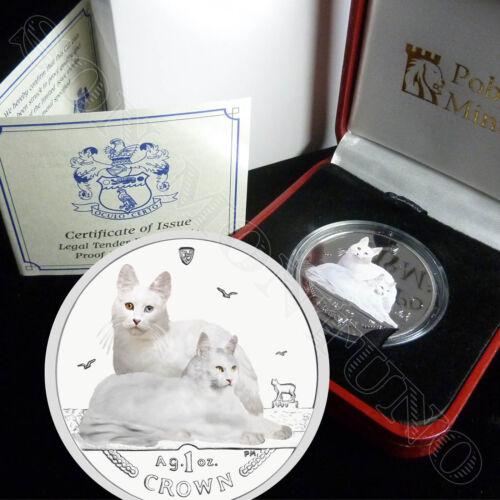 Mint Box /& COA 2011 Isle of Man TURKISH ANGORA CAT COIN 1oz Silver COLOR Proof
