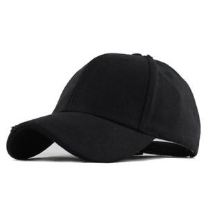 Hat Cotton Snapback Cap Blank Trucker Mesh Retro Classic Baseball ... 4be1c592b972