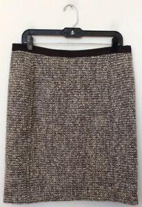 119 tweed corta taglia beige di misto Talbots Gonna in Nwt donna lana 10 Mrsp xqwOAZB