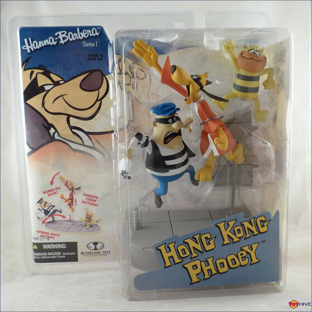 Hanna barbera figurine série  Hong Kong Phooey et Spot Set chat par McFarlane Toys  le plus récent