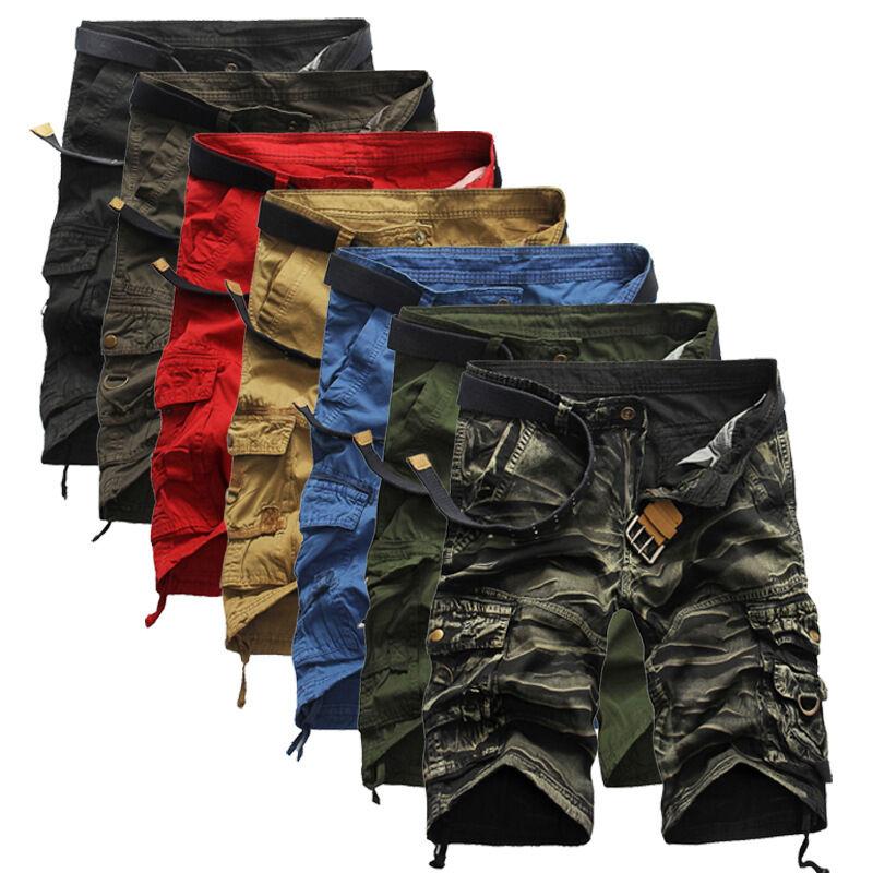 Top Trend Sport Men Pantaloncini Bermuda Cargo Breve Carmouflage Nuovo K19