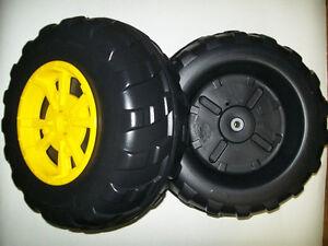 John Deere Peg Perego Gator XUV Front Wheel Set (2 Tires) Left & Right - **NEW**