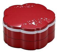 HAKOYA Lunch Bento Box 54107 Sakura Cherry Blossoms Rabbit Red MADE IN JAPAN