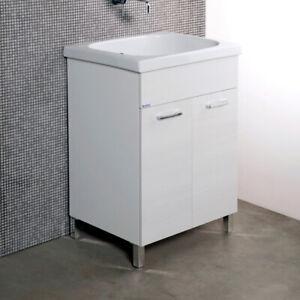 Lavatoio Ceramica Con Mobile.Dettagli Su Lavanderia Lavatoio Con Mobile Mod Corallo 2 Ante E Vasca In Ceramica