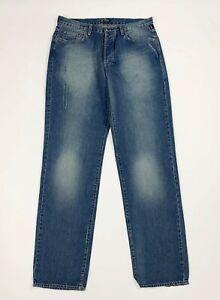 Versace-jeans-uomo-usato-W35-L34-tg-49-straight-vintage-denim-boyfriend-T6025