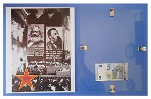 MARX-ENGELS-al-Comintern-Russia-URSS-Comunismo-quadro-cornice-vetro-cm-30x24