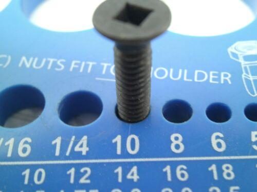 """NEW 400pcs BRIGHTON #10-24 x 1/"""" Flat Head Square Socket Drive Machine Screws NC"""