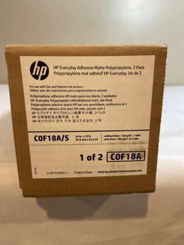 """HP 2-PACK EVERYDAY MATTE POLYPROPYLENE ROLL FILM 24/"""" X 75ft COF18A"""