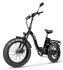 "SOHOO 48V 500W 12AH 20"" Folding Fat Tire Electric Bicycle Mountain E-Bike Snow"