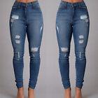 Sexy Women Denim Skinny Pants High Waist Stretch Jeans Slim Pencil Trousers New