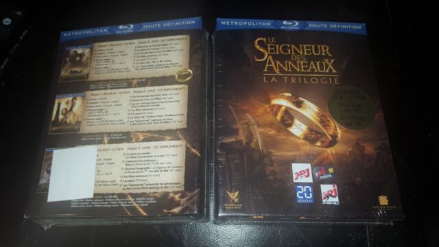 The Lord Of Rings Trilogia Blu-Ray Esclusivo Metropolitan Steelbook Nuovo e
