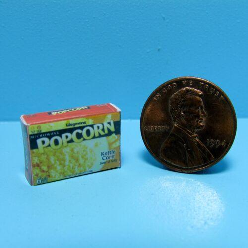 Dollhouse Miniature Replica Box of Microwave Popcorn ~ G061