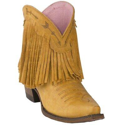 Junk Gypsy by Lane Women/'s Distressed Tan Spitfire Snip Toe Fringe Boot JG0007H