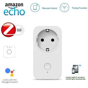 ZigBee-3-0-switchable-EU-Socket-Remote-operable-with-Echo-Plus-Amazon-Alexa