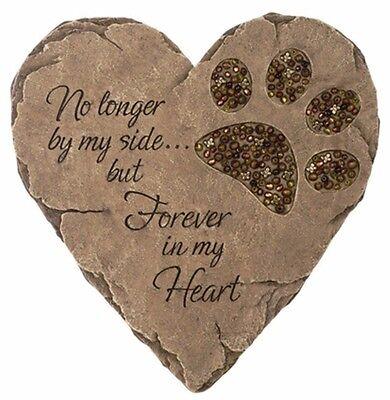 New Pet Dog Cat Paw Print Stepping Stone Grave Memorial Heart Plaque Garden RIP