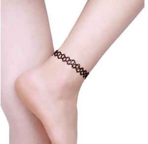 Tattoo Stretch For Anklet Black Retro Henna Vintage Elastic Boho 90s