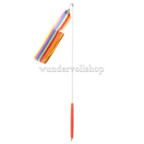 Gymnastikband Wirbelband Tanzband Schwungband mit Stab 4 m