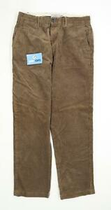 Marks-amp-Spencer-Mens-Green-Corduroy-Trousers-Size-W32-L31
