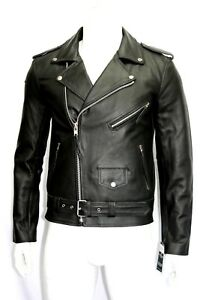 Style nera Mens Giacca Brando pelle Designer Biker vera Classic in Fitted XgHaUq