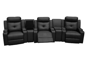 Image Is Loading ODEON 100 REAL LEATHER ELECTRIC RECLINER ARMCHAIR CINEMA