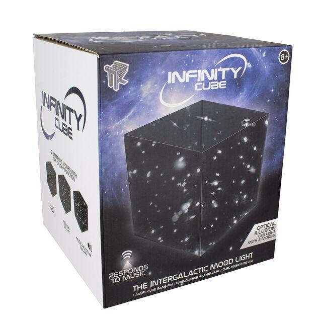 Infinity Cube Galaxy et Étoiles Lumière D'Ambiance Son Reactive Clair