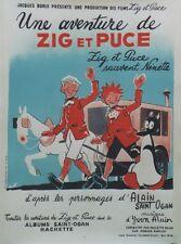 """""""ZIG ET PUCE SAUVENT NENETTE""""Affiche originale entoilée Alain SAINT OGAN 64x84cm"""