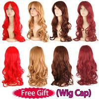 "70cm 28"" Fashion COSPLAY Ladies Long Wavy Curly Fancy Wigs Full Wig FANCY DRESS"
