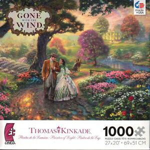 Thomas-Kinkade-Gone-with-the-Wind-1000-Piece-Ceaco-Jigsaw-Puzzle-Jig-Saw