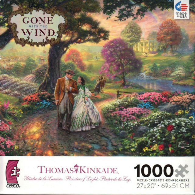 Thomas Kinkade Gone with the Wind 1000 Piece Ceaco Jigsaw Puzzle Jig Saw
