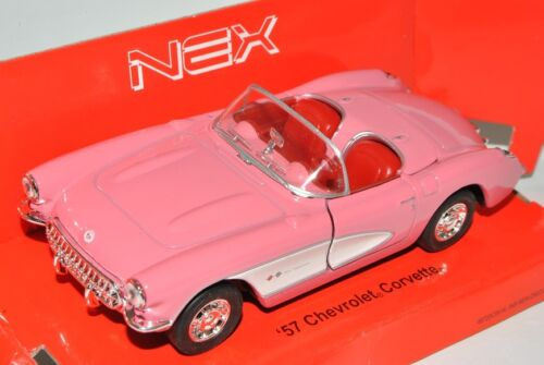 Chevrolet Corvette C1 Cabrio Pink Offen 1953-1962 ca 1//43 1//36-1//46 Welly Mode..