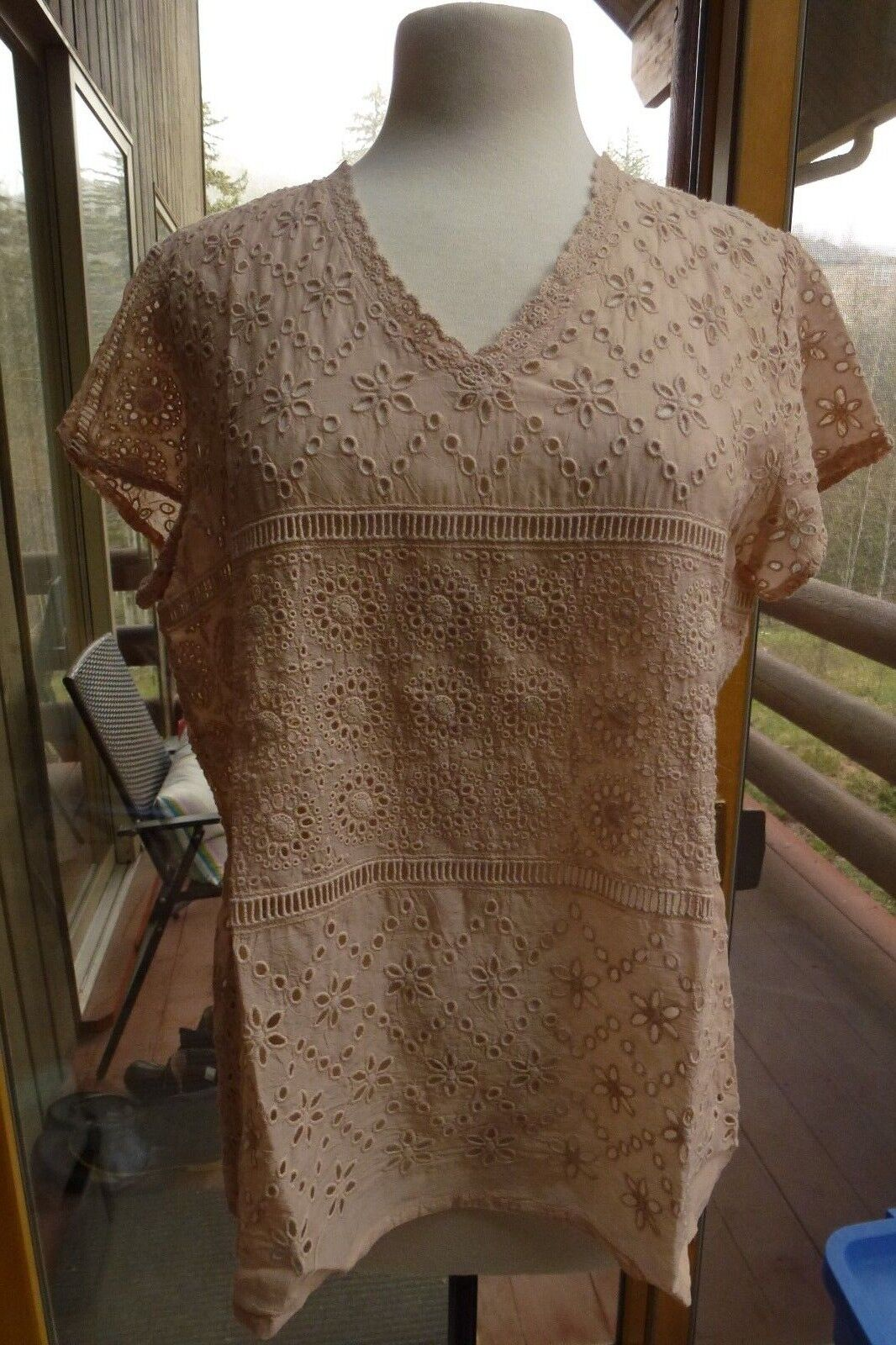 NWT Johnny Was Rosa Tierot Eyelet Top M