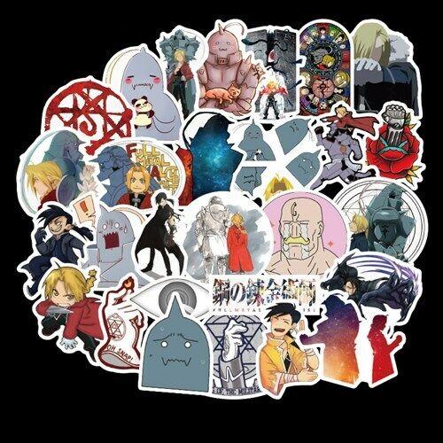 50PCS//SET Anime Fullmetal Alchemist Stickers for Luggage Laptop Skateboard DIY