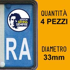 Kit 4 ADESIVI PER TARGA AYRTON SENNA plate auto moto Europa custom sticker decal
