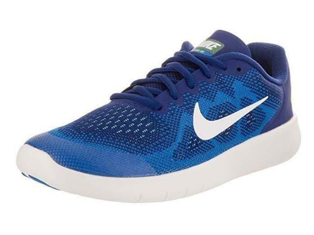 1964fc82e40 Nike Free RN 2017 GS Run Blue White Kids Running Shoes Sneakers 904255-400