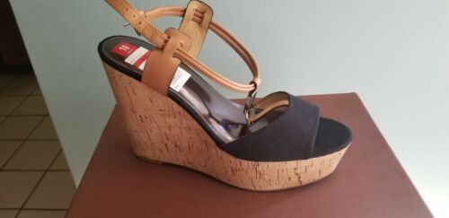 de Plataforma Cuero Linden lona 10 Sandalias Zapatos Negro Nib Ginger Coach Zapatos qxZwOOtS