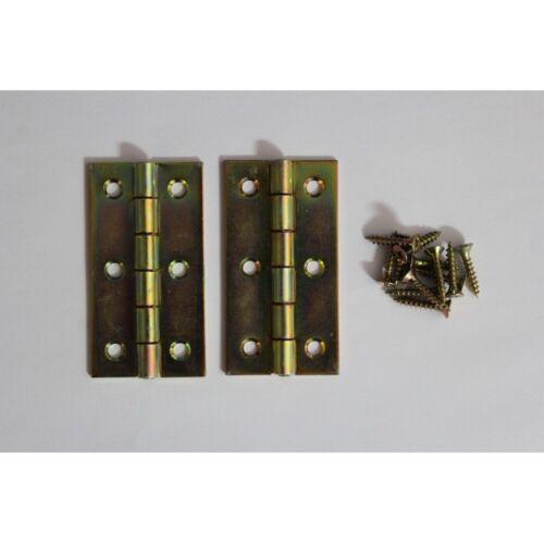 2 charnières fines meubles Charnières 60 mm Galvanisé DIN 7954