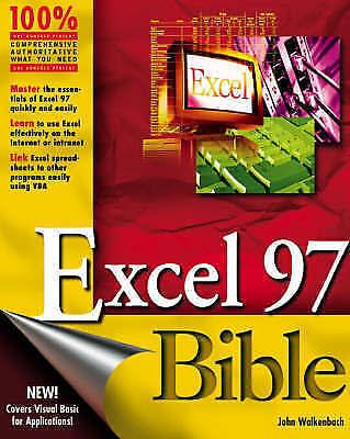 1 of 1 - NEW Excel 97 Bible by John Walkenbach