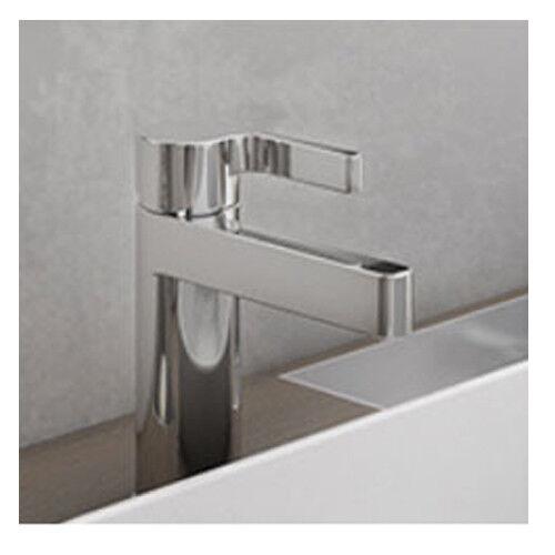 Elegante Designer Waschtischarmatur Einhebelmischer chrom mit Ablaufgarnitur