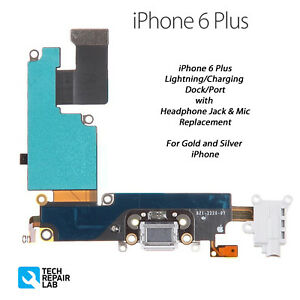 Details About New Iphone 6 Plus Lightning Connector Charging Dock Port Headphone Jack White