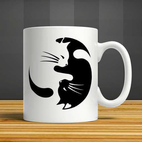 Katzen Kater Cat Fototasse Werbetasse bedruckt Becher Kaffetasse Teetasse