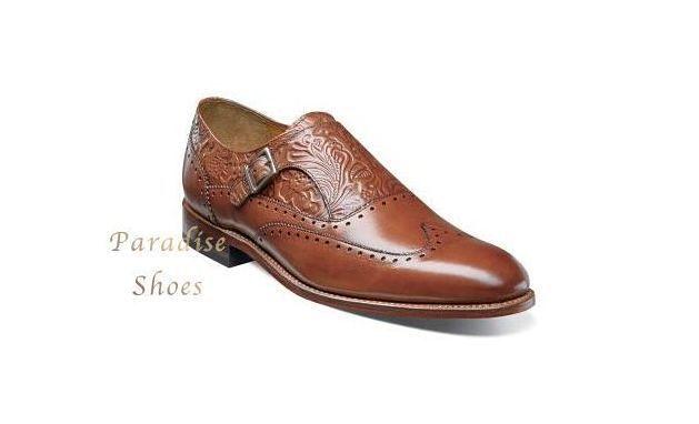 Senza tasse Stacy Adams Uomo Madison ll ll ll Cognac Leather Monk Strap Dress scarpe 00074-221  prodotto di qualità