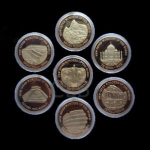 Seven-Wonders-Set-Great-Wall-of-China-Commemorative-Coin-Medal-Collector-Gift